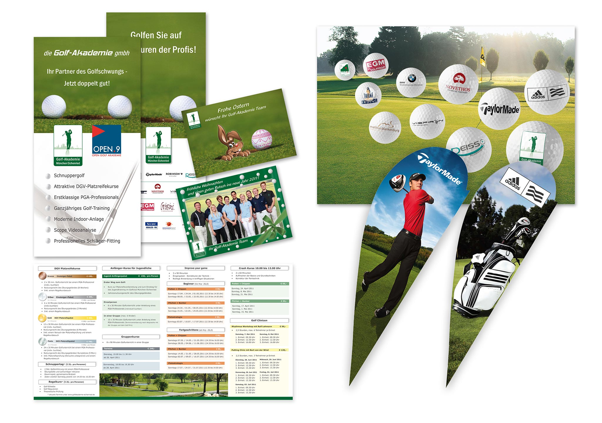 Corporate Design für Golf Eichried Akademie