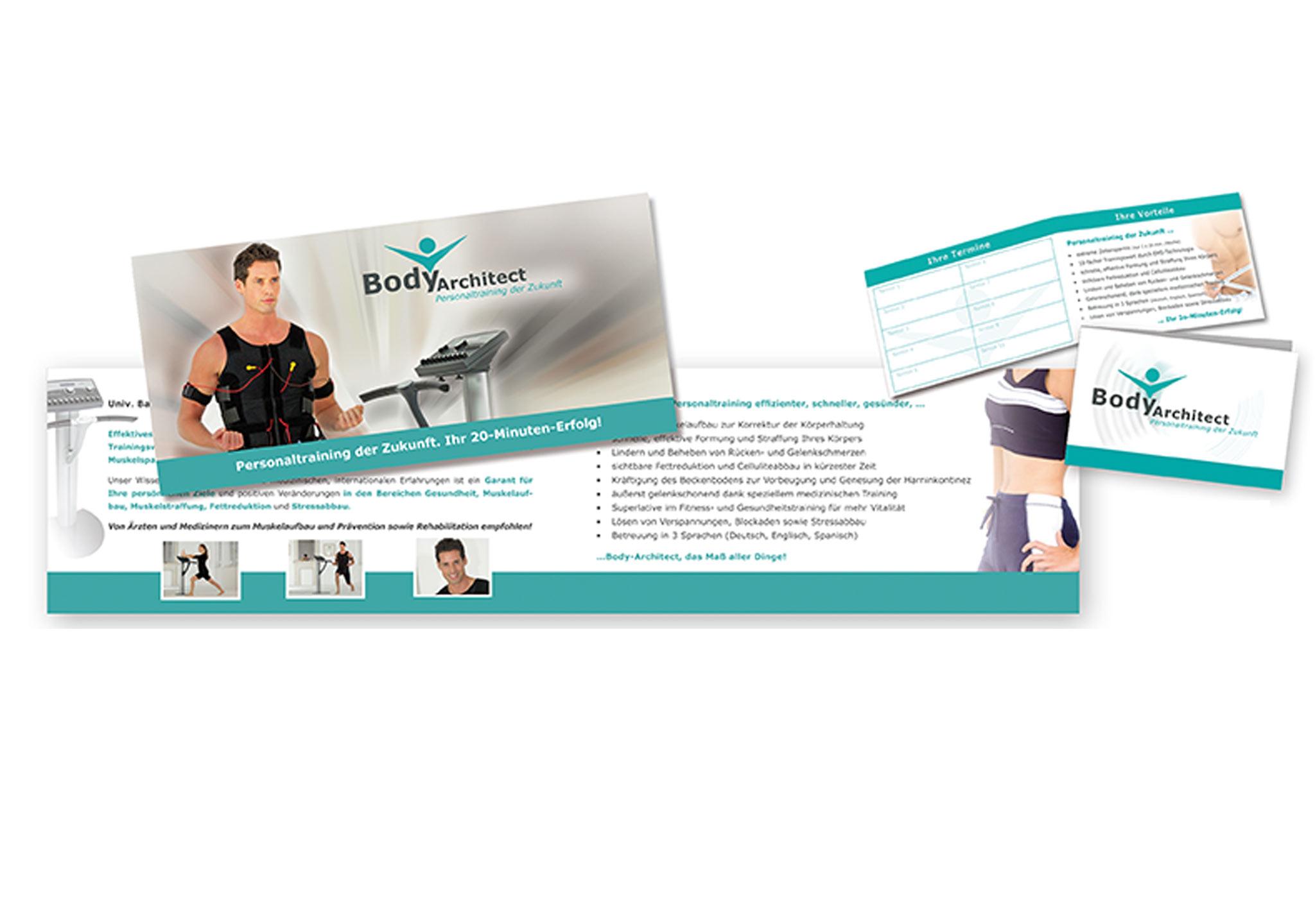 Flyer EMS-Training - perfekte Printmedien für Sport und Gesundheit