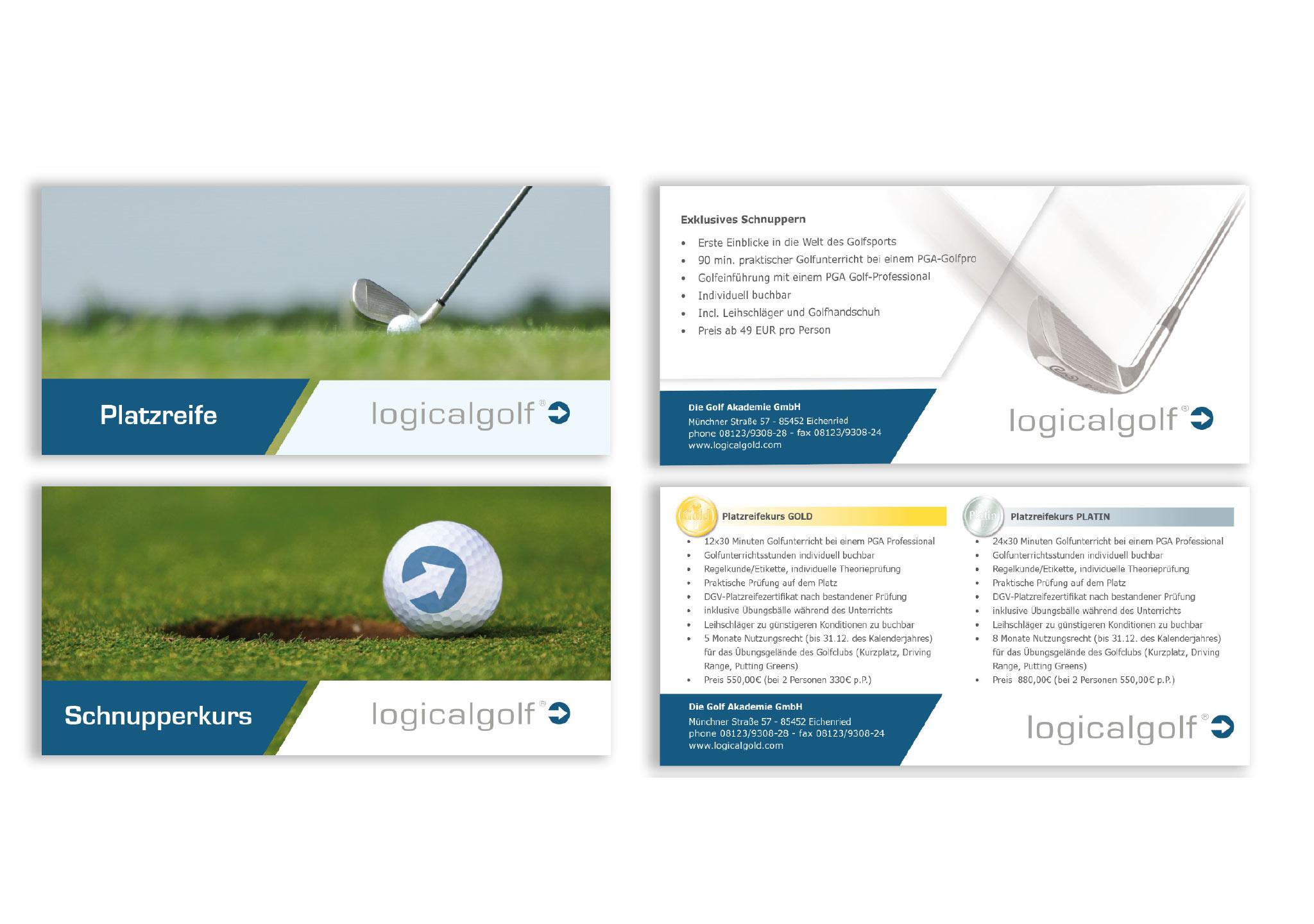 Flyer für Golf perfekt gestalten - besten Printmedien