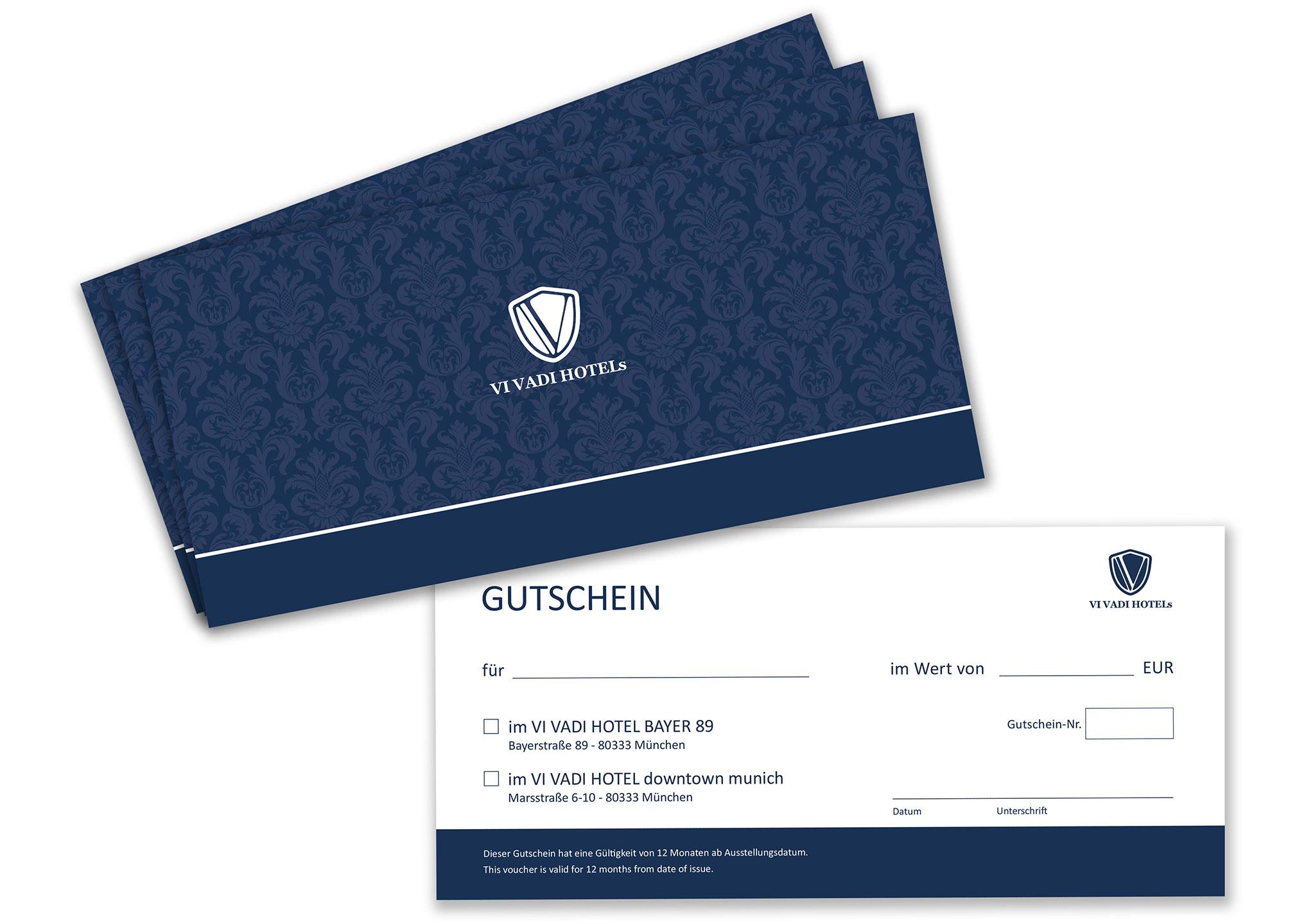 Flyer Gutschein für Hotel - perfekte Printmedien