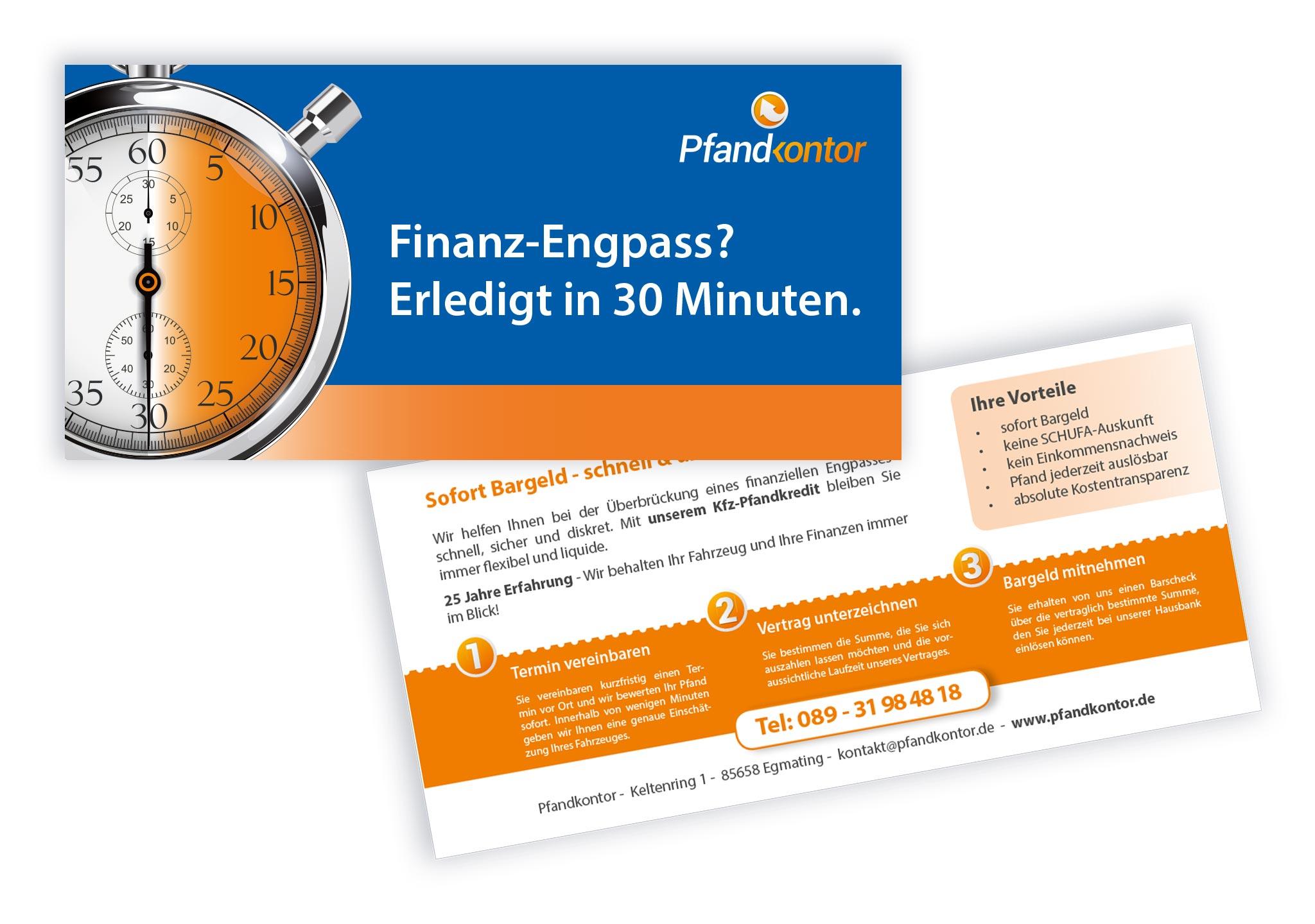 Flyer für Finanzierung - wichtige Printmedien