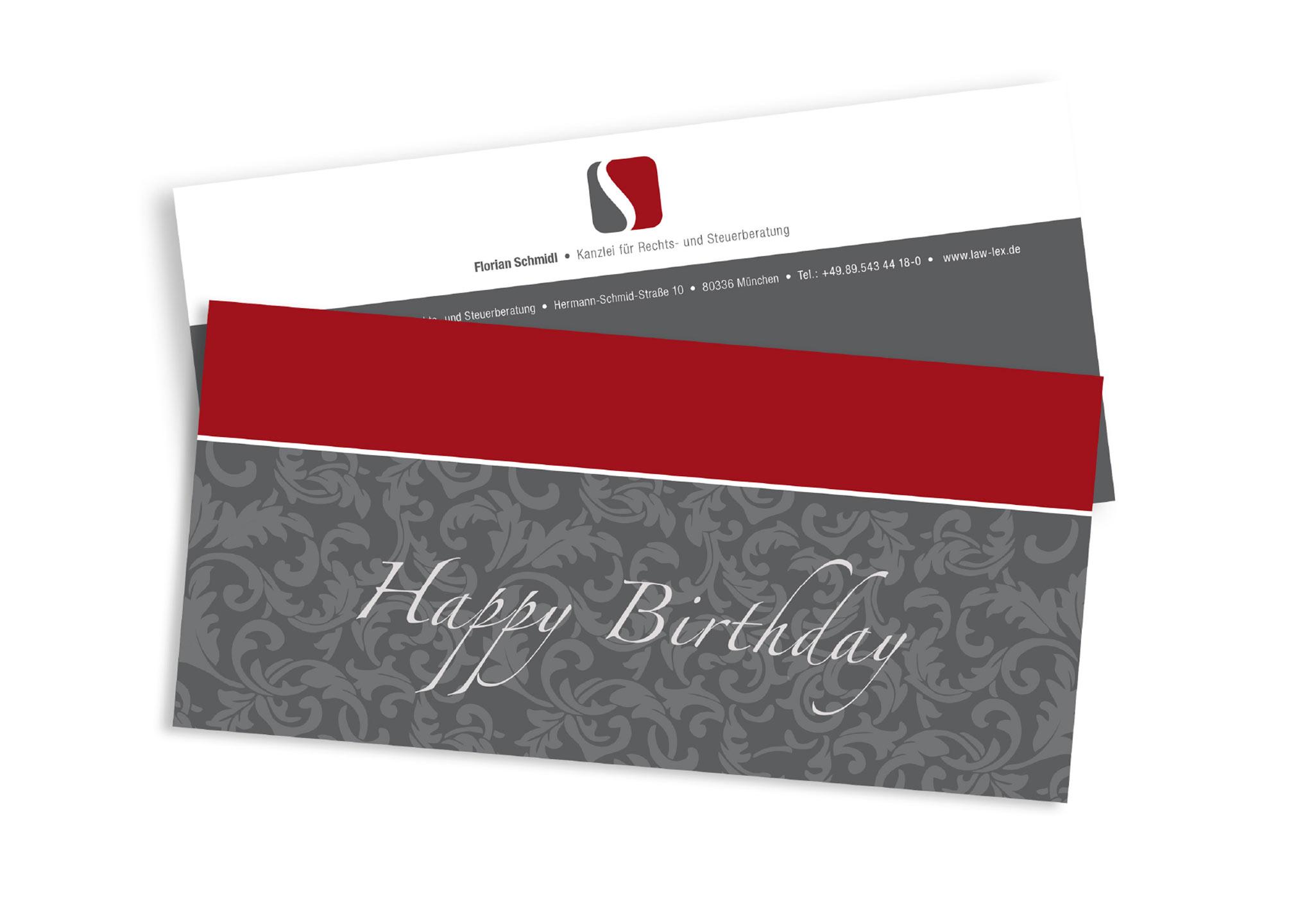 Flyer Happy Birthday für Steuerkanzlei - perfekte Printmedien