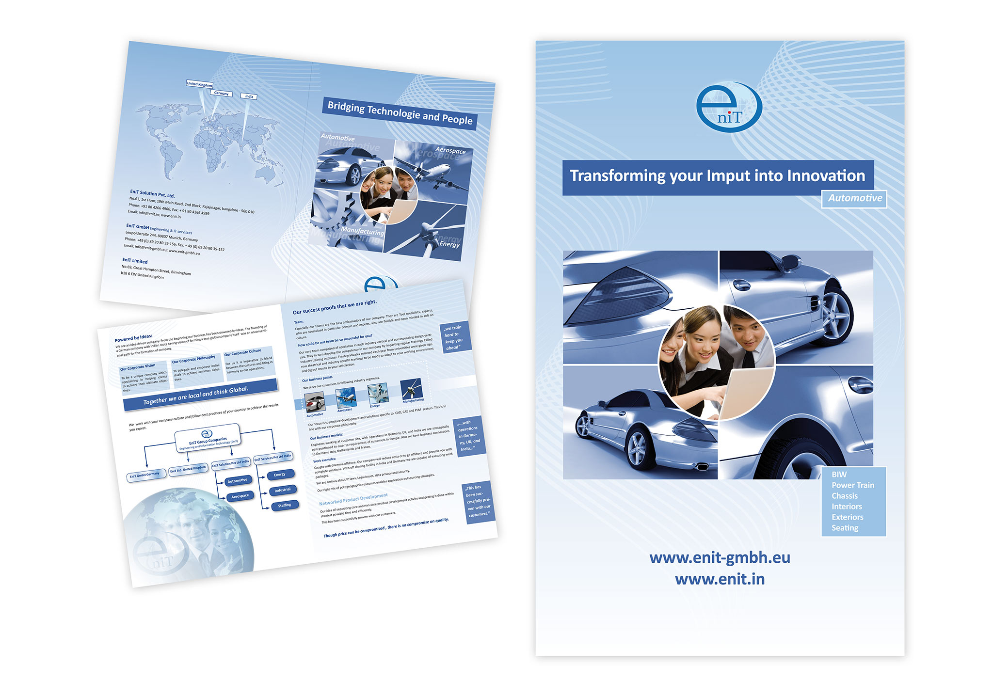 Broschüre und Prospekt für Autozulieferer