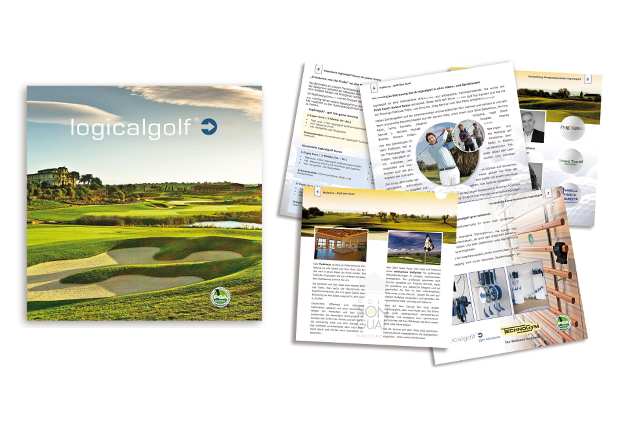 Broschüre und Prospekt für Golfanlage logicalgolf Eichenried
