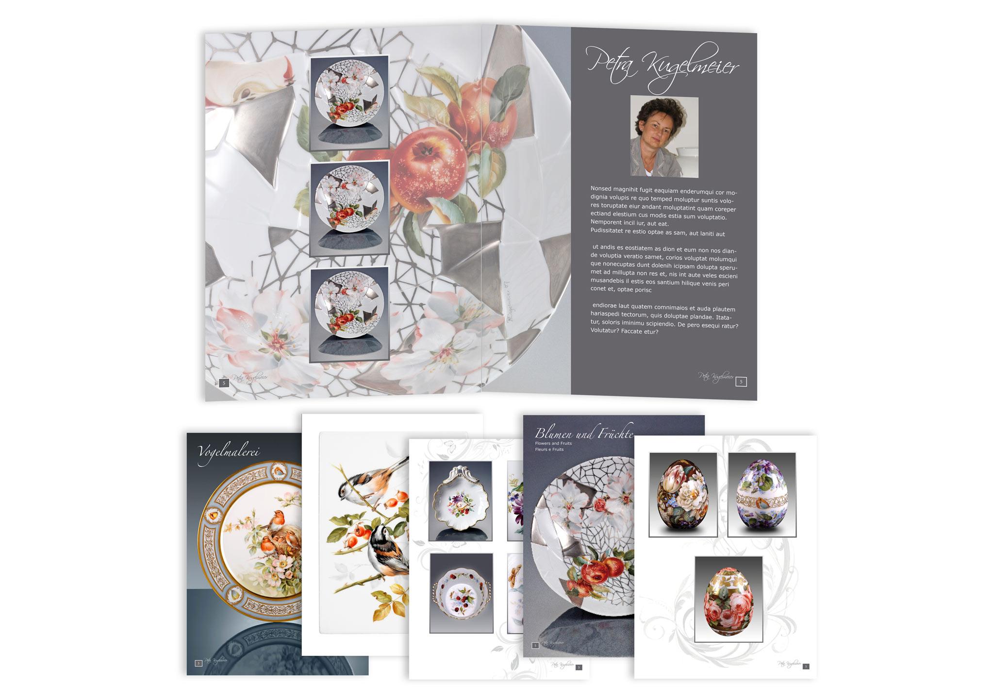 Broschüre und Prospekt für Porzellanmalerei