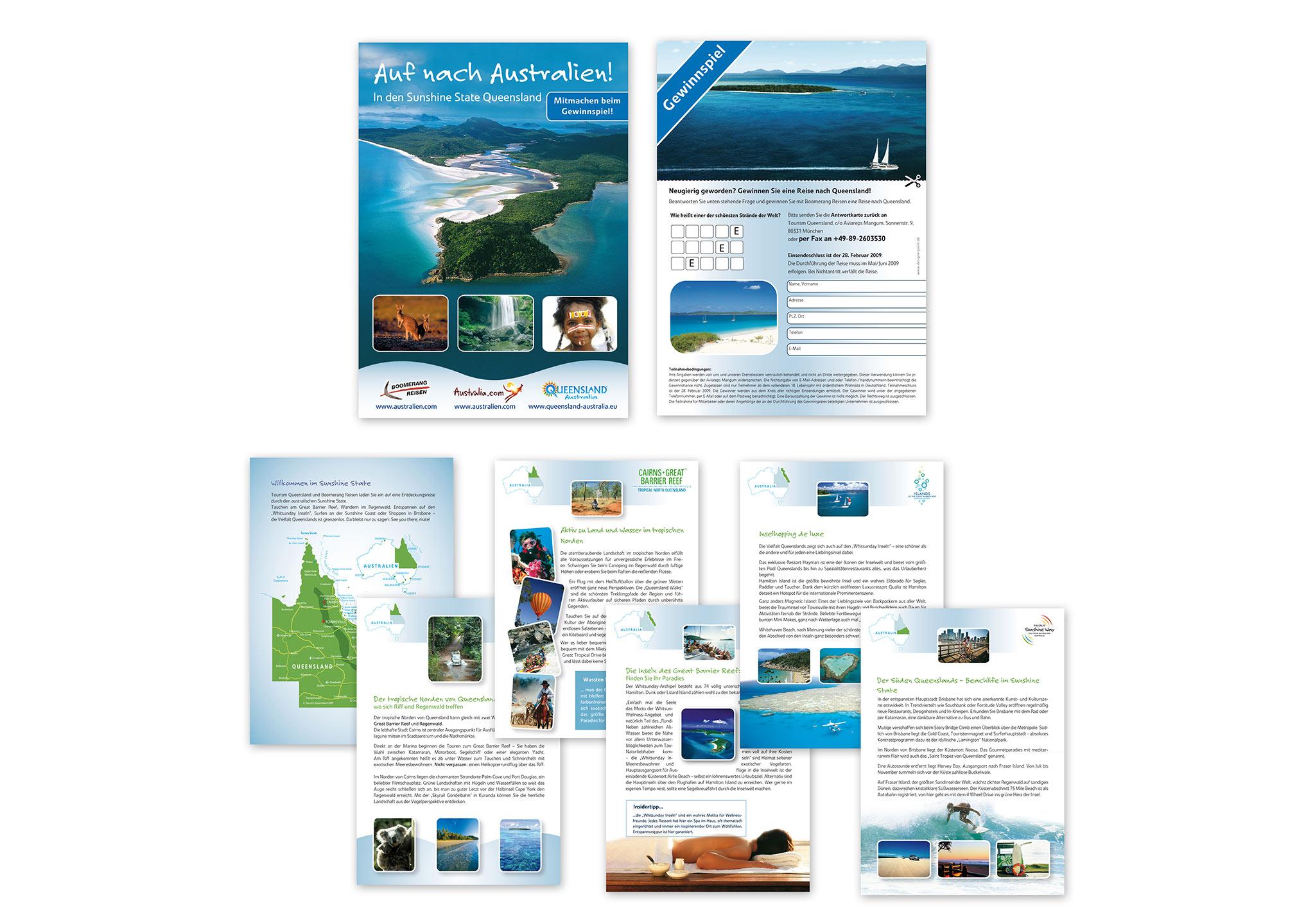 Broschüre und Prospekt für Tourismus