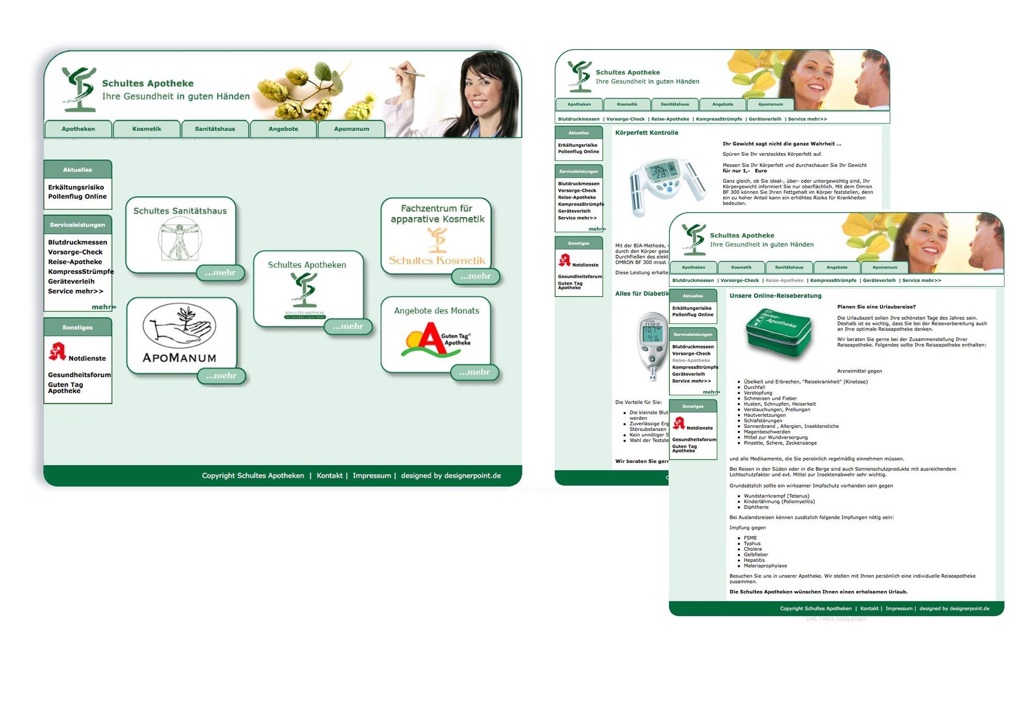 Webdesign Apotheke - immer perfekt online