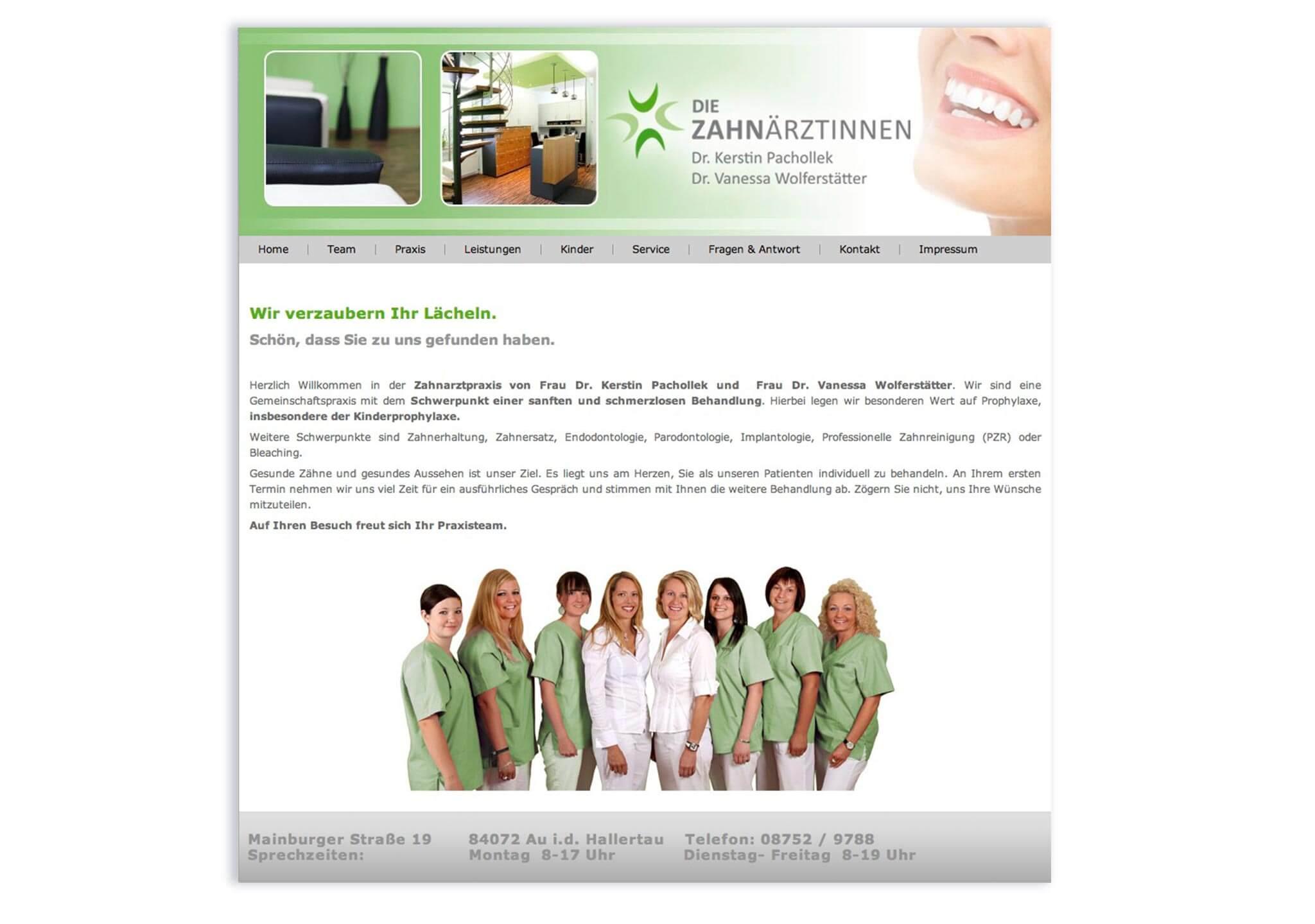 Webdesign Zahnarzt - immer perfekt online